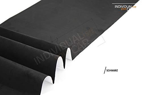 IndividualiseYourCar Mikrofaserstoff selbstklebend schwarz - ähnlich Alcantara, Wildleder Optik - Stretch Folie Stoff (50cm x 146cm (35,60€/m²), Schwarz)