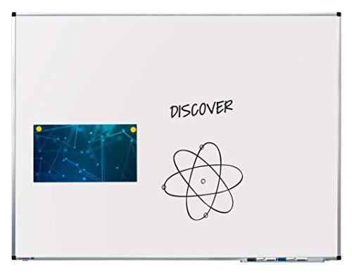 Legamaster 7-102054 Whiteboard Premium, lackierter Stahl mit Spezialbeschichtung, 120 x 90 cm