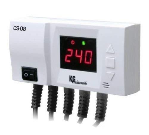 Temperatuurregelaar CS-08 voor pomp voorloop + buffergeheugen
