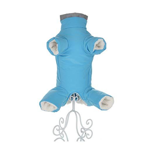 W-L Vêtements d'hiver for Petits Chiens Chaud Toison Puppy Pet Manteau Veste imperméable réfléchissant Chien Chihuahua Tenues Vêtements Salopette (Color : Blue for Girl, Size : 14)