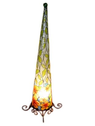 Unbekannt Stehleuchte Villa Blumen 90cm Stehlampe