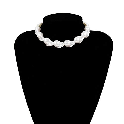 Dfgh Fashion Multilayer White Imitatie Parel Choker met metalen Slice Fixatie Wide Bib Ketting Sieraden for Charm Vrouwen (Metal Color : Necklace 12)