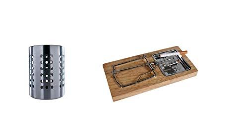I IKEA Ordning – Besteck Ständer, Edelstahl + Party Aschenbecher, Deko Aschenbecher Mausefalle 20x 10 cm von Conny Clever®