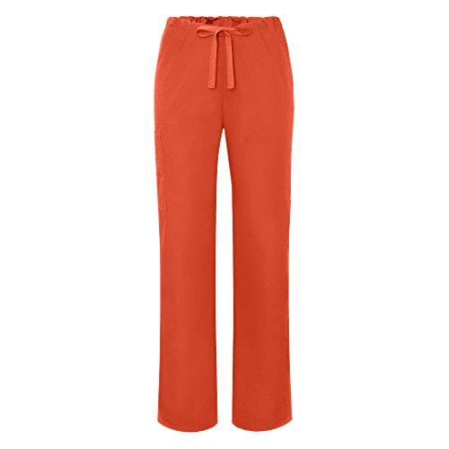 Adar Universal Unisex Scrubs - Drawstring Tapered Leg Scrub Trousers - 504 - Mandarin Orange - M