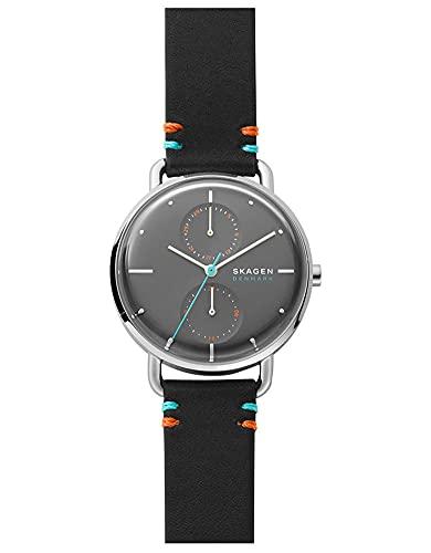 Skagen Damen Uhr Horizont Multifunktion Leder schwarz, skw2930