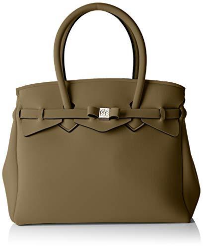 SAVE MY BAG Mujer 20204N Bolso de hombro Verde Size: 34x29x18 cm (W x H x L)