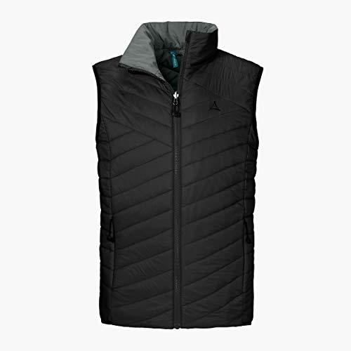 Schöffel Ventloft Vest Adamont2, Leichte, Atmungsaktive, Wendeweste für Flexiblen Einsatz, Warme Weste aus Primeloft für Herren Daunen- / Thermoweste, black, 54 (XL)