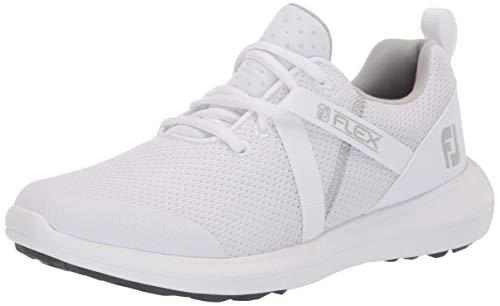FootJoy womens Fj Flex Previous Season Style Golf Shoe, White, 7 US