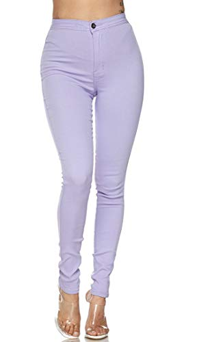 SOHO GLAM Super High Waisted Stretchy Skinny Jeans for Women (S-3XL) Lavender