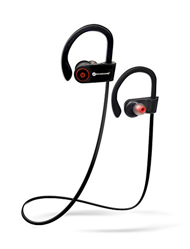 SoundWhiz Wireless Sports Headphones. Sweatproof Bluetooth Running Earbuds for Father's Day. Ideal For Running, Workouts & Gym. Noise Canceling Wireless Sports Earbuds with Mic for Smart Phones