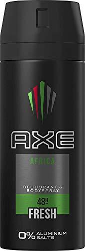 Axe Desodorante Spray Africa sin aluminio, 3 unidades x 150 ml