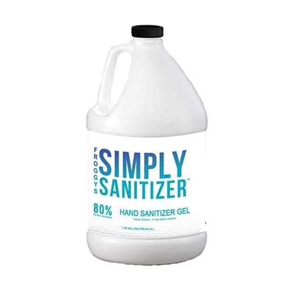Froggy's Simply Sanitizer – Light Gel Formula – 80% Hand Rub