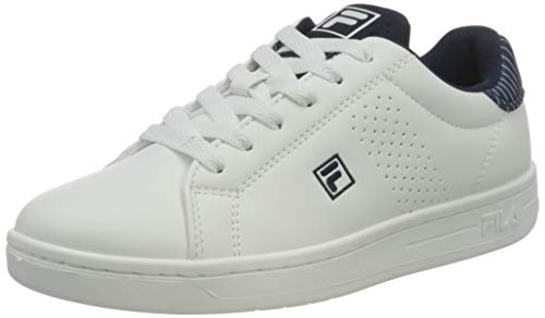 FILA Crosscourt 2 NT kids Sneaker Unisex - Bambini, Bianco (White/Fila Navy), 38 EU