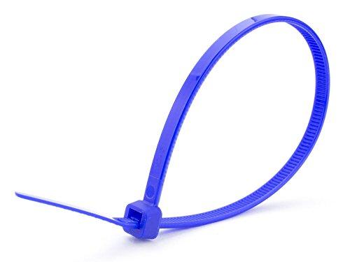 100X 100X 100mm X 2,5mm en plastique bleu de haute qualité Attaches de câble en nylon Zip Tie Wraps