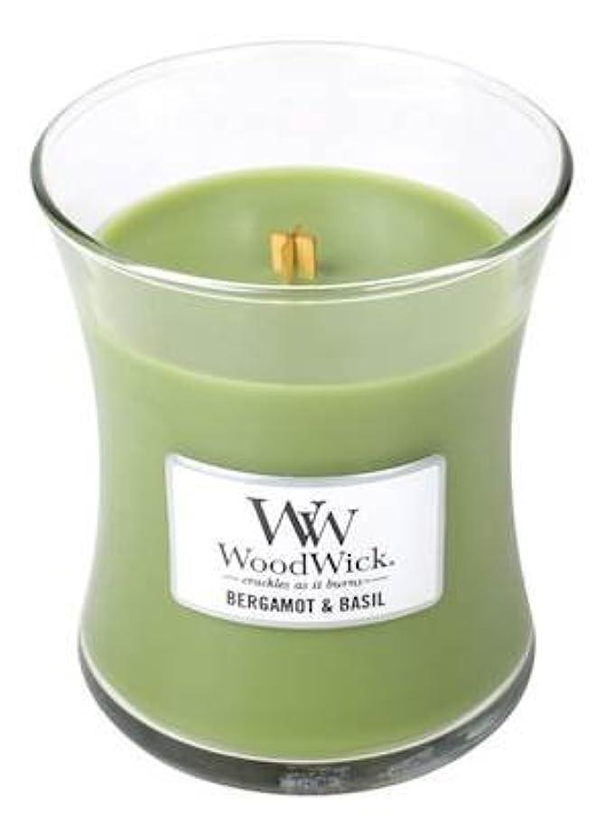 なぜカバーステレオベルガモットBasil?–?Woodwick 10oz Medium Jar Candle Burns 100時間