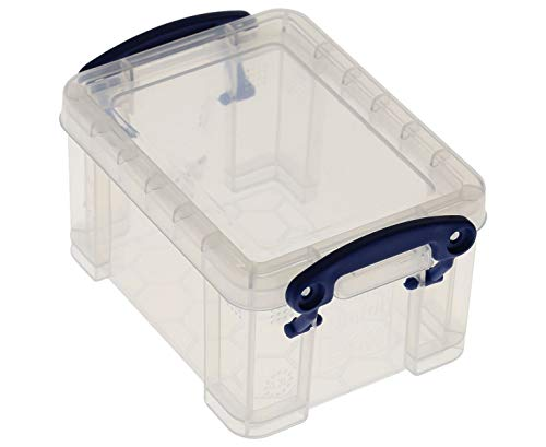 Really Useful Box 6 x Aufbewahrungsbox im Visitenkarten-Format 0,3 Liter - transparent