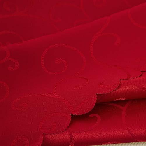 Jacquard Bloementafelkleed met bloemen, geblokte tafelkleed, rechthoekig, ronde banketten, bruiloftsfeest, hoteldecoratie, 120 x 160 cm, rood