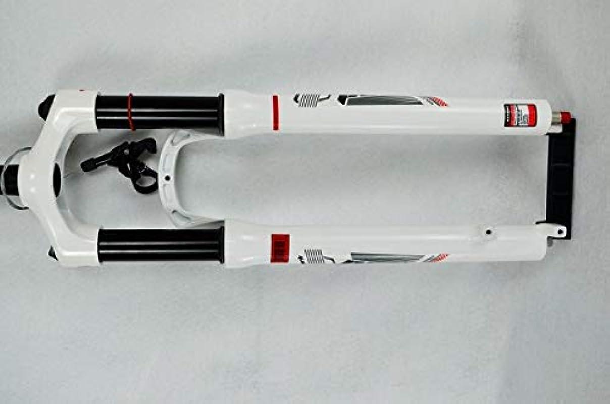 伝導率歌怒ってマウンテンバイクガスフォーク26インチMTB自転車サスペンションフォークエアーダンピングフロントフォーク白い赤1600g