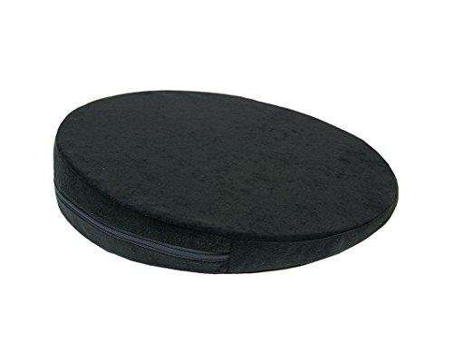 Keilkissen, RUND Ø 36 cm, 100% Baumwollbezug! - schwarz - Kissen Sitzkissen Sitzkeilkissen Sitzkissen Sitzkeil