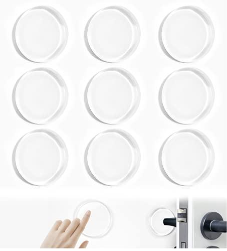 O-Kinee Türstopper Wand,9 Stück Türgriff Puffer Transparent, Türpuffer Möbelpuffer Anschlagdämpfer, Elastikpuffer Selbstklebend, Türstopper Wandpuffer zum Schutz Wände und Zimmertüren