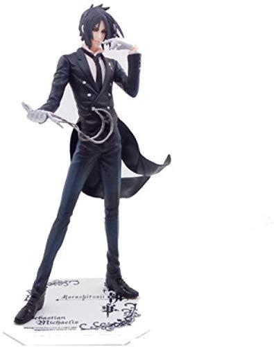KIJIGHG Black Butler of Circus 21cm Sebastian Michaelis PVC Figura de Anime Figuras de accion Modelo de Personaje de Anime