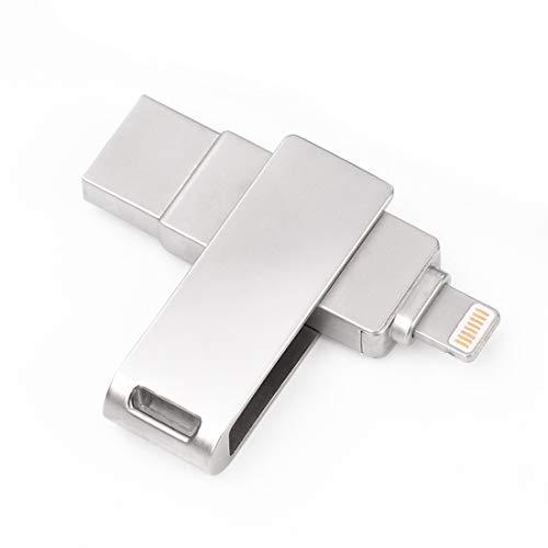 OTG Flash Drive for iPhone, USB 3.0 Memory Stick, External Storage Thumb Drive for iPhone/iPad/iPod/Mac/PC/iOS (32GB)