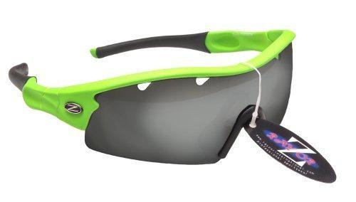 Rayzor Professionnel léger UV400 Vert Sport Wrap Cricket Lunettes de Soleil, avec Un 1 Piece ventilé fumé Miroir Anti-éblouissement Lens.