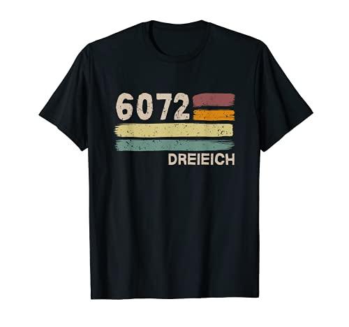 6072 Dreieich Retro Postleitzahlen Alte PLZ Vintage T-Shirt