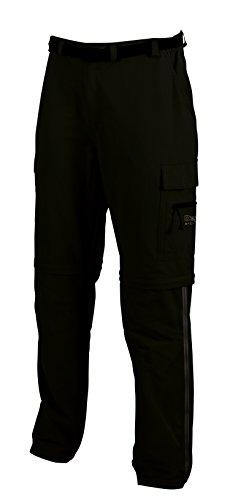 Deproc Active Herren Outdoorhose KENTVILLE T-ZIP-OFF mit seitlichem RV Hose, Black, 27