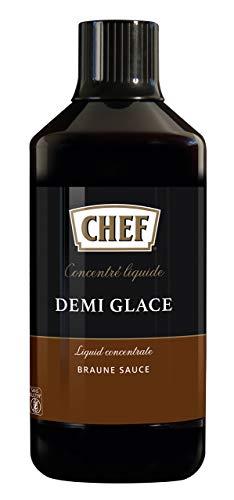 CHEF Flüssiges Konzentrat Demi Glace, Geschmacksboost für Herzhafte Gerichte, 100% Natürlicher Geschmack, 1er Pack (1 x 1L)