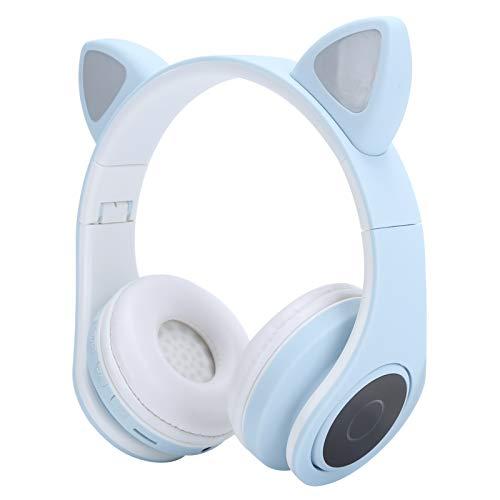 Tenpac Auriculares para PC, Auriculares para computadora, Oreja de Gato Equipada con micrófono, Juego de Enchufe de 3.5 mm para música de teléfono de computadora