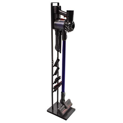 Paxanpax PFC764 Ständer für Staubsauger und Zubehör, freistehend, Metallstick, kein Bohren der Wand, dunkelgrau