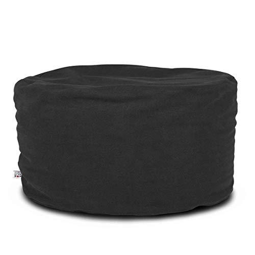 Arketicom Soft Chill Pouf Sac Design Repose-Pieds Dehoussable Rond 60x42cm Noir