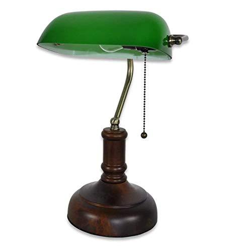 Lámpara de mesa con interruptor de cordón LED E27, para salón, oficina, niños, estudiantes, mesa auxiliar, lámpara de lectura, lámpara de escritorio, luz blanca