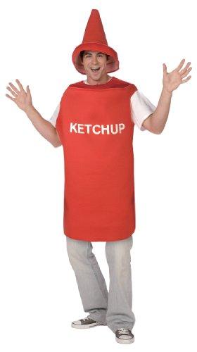 Déguisement pot de ketchup adulte - Taille Unique