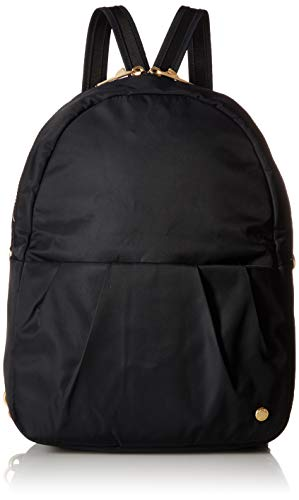 Pacsafe Citysafe CX convertible backpack, verwandelbarer Rucksack, Umhängetasche mit Diebstahlschutz, Schwarz/Black
