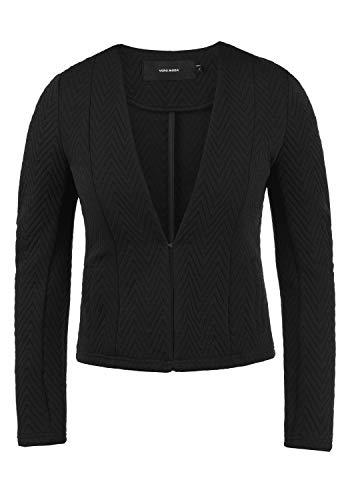 VERO MODA Bridget Damen Blazer Kurzblazer Jacke Mit V-Ausschnitt, Größe:L, Farbe:Black