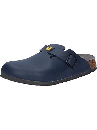 BIRKENSTOCK Professional Clog Boston ESD blau Leder Gr. 36-48 061380 + 061388, Größe + Weite:42 schmal