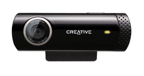 CREATIVE Live!CAM Chat HD - Webcam HD (micrófono Incorporado), Negro