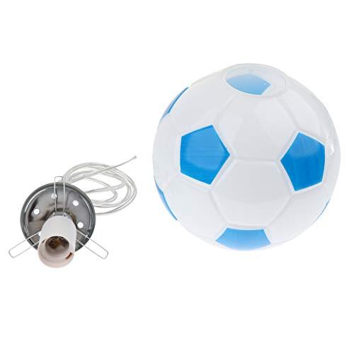 D dolity Fútbol Diseño–Pantalla de Cristal Lámpara de techo Niños Dormitorio Lámpara Bombilla con casquillo E27