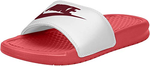 Nike Women's Benassi Just Do It Sport Sandal, Track red/Noble Redwhite, 10 Regular US