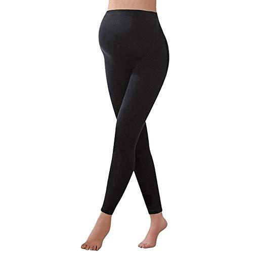 OEAK Damen Lange Umstandsleggings Blickdichte Leggings für Schwangere Elastische Weiche Stretch Umstandsmode Komfortable Hose Sehr bequem für den Alltag