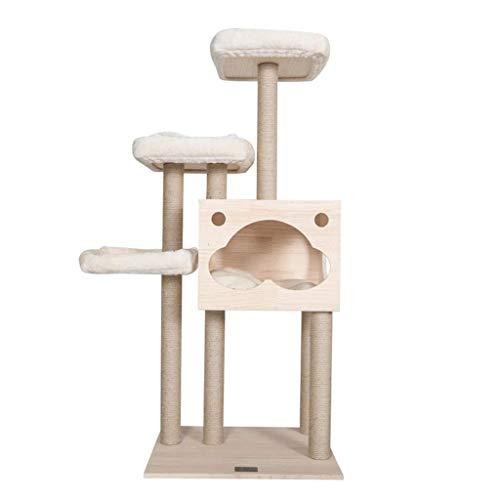 LZQHGJ YAJIAN Marco de Escalada, Tienda de Temas de Mascotas Árbol, Villa Paradise Pequeño Animales Fitness Jump Plataforma Columna de Madera Maciza/Código de Productos básicos: YWBBB-568