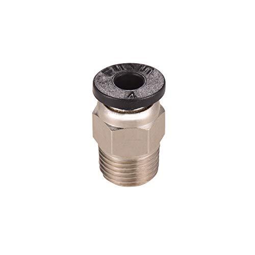 Aibecy PC4-M10 Mannelijke Rechte Pneumatische Buis Push Fitting Connector Compatibel voor CR-10 Ender 3 3D Printer Extruder