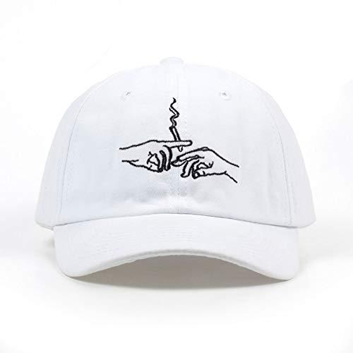 Unisex-Baseballmütze,Unisex Baseball Cap,Black Smoke Embroidery Adjustable Breathable White Baseball Cap Fashion Personality Kart Driver Cap Classic Hip Hop Comfortable Golf Hat