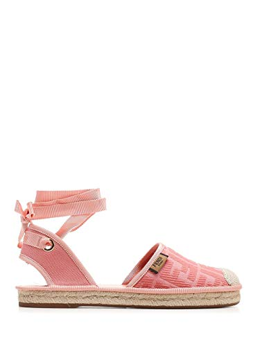 FENDI Luxury Fashion Donna 8P7073ABN2F0UH3 Rosa Tessuto Espadrilles | Primavera-Estate 20