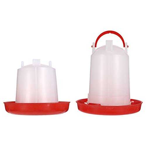 UKCOCO Chicken Feeder and Waterer Set Durable Automatic Poultry Feeder Waterer Hanging Poultry Feeder and Waterer for Chicken/ Goose/ ( 2PCS )