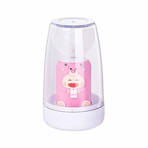 Cepillo de dientes para niños 360 ° Limpieza, carga inalámbrica, IPX7 Impermeable, Cabezal de pincel de silicona de grado alimenticio, adecuado para 2-12 años Pink