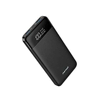 Charmast USB Power Bank 10400mAh Portable Charger 10000 with Led Display 5V 3A Ultra Slim Battery Pack Compatible with iPhone Huawei Samsung Google Pixel and More