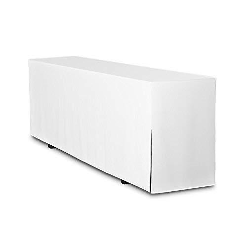 TexDeko Biertisch-Husse für Bierzeltgarnitur (nur Tisch) Biertischgarnitur Basic LANG 220x50cm Weiß